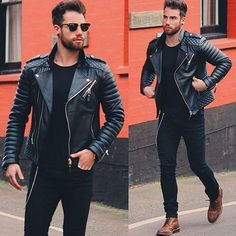 That all black biker style! Via @chezrust