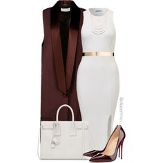 A fashion look from August 2015 featuring Maison Margiela vests, Christian Louboutin pumps and Yves Saint Laurent shoulder bags. Browse and shop related looks.