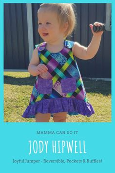Joyful Jumper PDF Pattern Sewing Blogs, Pdf Sewing Patterns, Sewing Hacks, Sewing Tips, Baby Clothes Patterns, Baby Patterns, Clothing Patterns, Onesie Pattern, Baby Pants Pattern