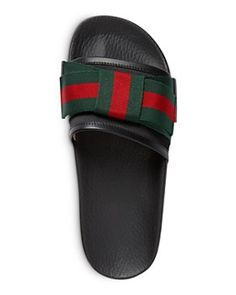 d127cc2405cb Women s Gucci Pursuit Bow Slide Sandal (€435) ❤ liked on Polyvore featuring  shoes