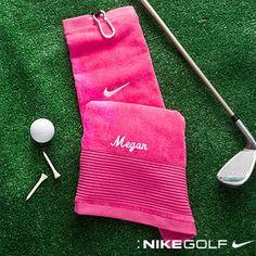 Ladies Personalized Nike Golf Towel - Pink - 11712