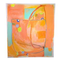 *Orange color is lighter and more luminous than shown here. This is a large acrylic and collage painting on heavy paper that has been mounted on g. Paintings Famous, Art Paintings, Orange Painting, Painting Collage, Online Painting, Painted Paper, Henri Matisse, Contemporary Paintings, Painting Inspiration