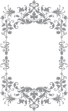 Floral and Vine Frame | Pre-Cut Patterns