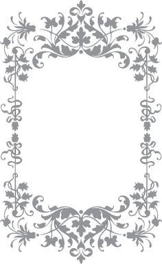 Floral and Vine Frame | Pre-Cut Patterns