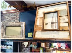 Frame your best memories with #environmentally friendly #ReclaimedWood picture frames at #PeaceOfTheEarth! #ShopLocal