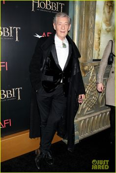 Ian McKellen (in head-to-toe Unconditional) at Premiere of The Hobbit An Unexpected Journey at the Ziegfeld Theatre in New York City. (6-12-12) Thursday