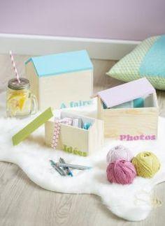 Customiser des Boîtes Maisons | #pastel #DIY #homedéco