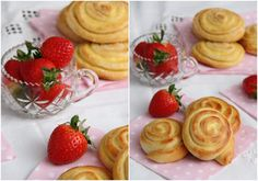 Vaniljesnurrer - My Little Kitchen Little Kitchen, Scampi, Pulled Pork, Chai, Strawberry, Baking, Fruit, Food, Shredded Pork
