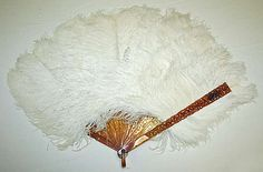 Feather Fan - Probably French   c. Late 19th Century  -  The Metropolitan Museum Of Art