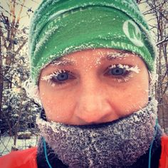 Looking back on a cold Winter: Runners Show Off Their Frozen Faces #RWIceFace #RunningPictures