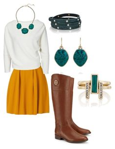 """Fall + Malachite love"" by mandy-lyon-stringer on Polyvore featuring Tory Burch, Chloe + Isabel, chloeandisabel and Candibymandy"