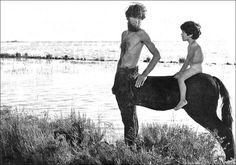 "Pier Paolo Pasolini ""Medea"", 1969. Laurent Terzieff a centaur."
