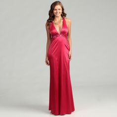 @Overstock - Sparkling sequins highlight this barberry red gown from Jessica Simpson. With a light stretch, this fully lined dress is finished with a flattering empire waist, V-neck and back cut-out design.http://www.overstock.com/Clothing-Shoes/Jessica-Simpson-Womens-Barberry-V-neck-Gown/6477677/product.html?CID=214117 $109.99