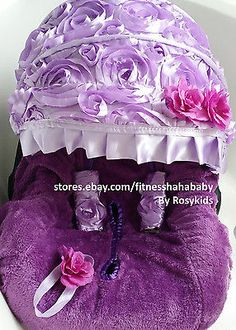 baby car seat cover canopy cover fit most infant seat headband lavenderPurple