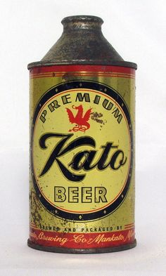"""Scarce Kato Premium Beer 12 oz Cone Top Beer Can """"Strong"""" Variation 