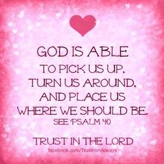 God is able ....