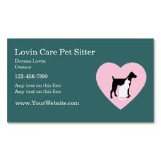 Cute pet sitter business cards pinterest business cards pet pet sitter business cards colourmoves