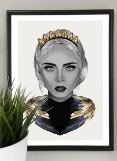 Excited to share the latest addition to my #etsy shop: Cara - Digital Art Print http://etsy.me/2tFODph #art #drawing #gray #gold #digital #print #portrait #cara #blackandwhite