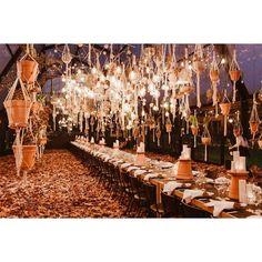 Boho autumn wedding reception @liezlkotze_floralart Autumn Wedding, Wedding Reception, Chandelier, Ceiling Lights, Boho, Home Decor, Marriage Reception, Candelabra, Decoration Home