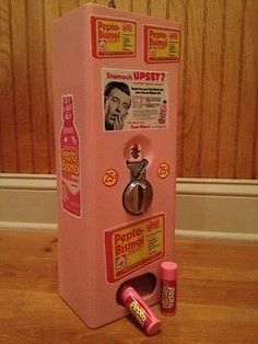 old coin operated machines | Vintage Coin Operated Pepto Bismol Vending Machine For Sale
