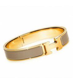 Hermes Enamel Clic H Narrow Bangle Bracelet Taupe Gold Hermes H Bracelet, Hermes  Jewelry, 2de62920849