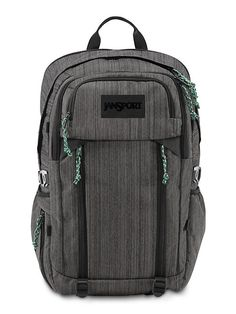 The new JanSport Oxidation Backpack in Heathered Grey from the Outside Collection featuring laptop and tablet sleeves. Perfect for the weekend or outside adventure.
