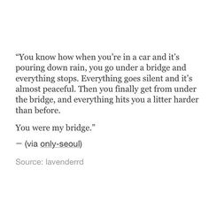 Jesus, you are my bridge