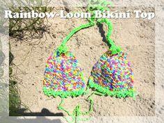 Custom Handmade Rainbow Loom Band Bikini Top