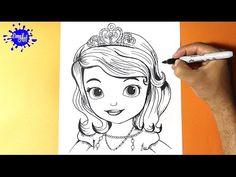 Como dibujar la princesita Sofia l How to draw the princess sofia - Como dibujar una princesa  YouTube