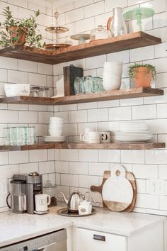 Open shelving can be