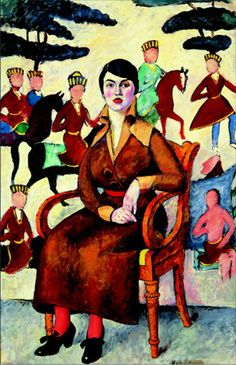 Portrait of a lady in a chair - Ilya Mashkov - WikiPaintings.org