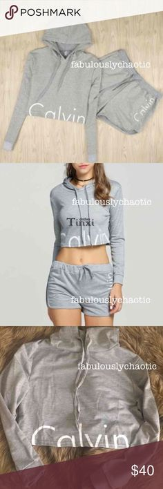 NWOT Small Calvin Klein Set - Brand new WITHOUT tags inside or out! Size SMALL. Set includes: 1 cropped, lightweight sweater and 1 pair of shorts Calvin Klein Sweaters