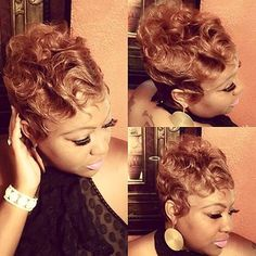 STYLIST FEATURE| Beautiful #quickweave pixie✂️ styled by #FlowoodMS stylist @StacyJReed Soft and pretty #VoiceOfHair