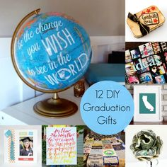 What are you going to get your grad for their special day? Here are 12 fabulous DIY graduation gifts he or she will love! Diy Graduation Gifts, Graduation Celebration, Graduation Ideas, Graduation 2015, Homemade Gifts, Diy Gifts, Grad Parties, Creative Gifts, Teacher Gifts