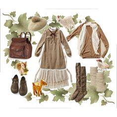 Little Forest Girl, created by sistinas.polyvore.com