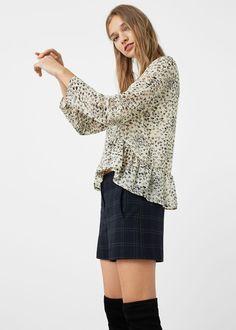 Ruffle blouse - Shirts for Woman | MANGO United Kingdom