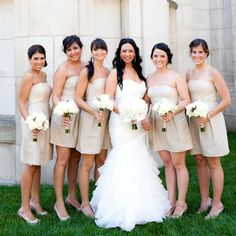 like the bridesmaid dress color
