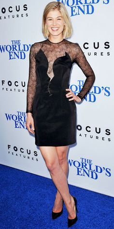 Rosamund Pikes' Best Red Carpet Looks - In Marios Schwab, 2013 from InStyle.com