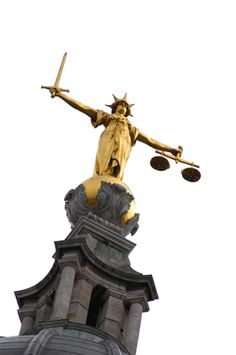 LAW~The Old Bailey, London, England. Lady Justice statue by the British sculptor F. Lady Justice Statue, Inns Of Court, Canon Law, Justice Of The Peace, Shield Maiden, London Map, Grand Jury, Cleric, Anne Boleyn
