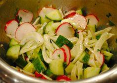 Невыразимая легкость кулинарного бытия...: Салат из фенхеля и огурца