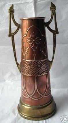 Outstanding WMF Art Nouveau Copper/Brass Vase c.
