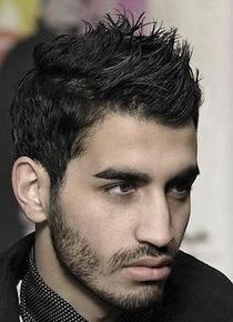 coiffure avec du gel homme cheveux épais