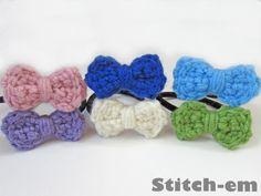 Crochet Bow Hair Tie Pattern <3