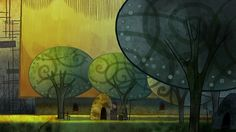 Living Lines Library: The Secret of Kells (2009) - Production Design / Backgrounds: The Village