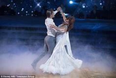 Smooth: Next was a Viennese waltz with 80¿s TV actress Marilu Henner, 64, and DWTS vet Derek Hough, 31