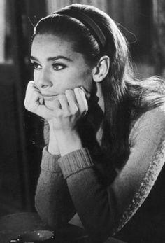 Pensive Audrey Hepburn