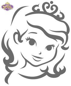 Sofia the First - inspired pumpkin template