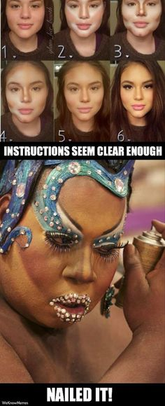 This is exactly what I think when people ask me how to contour like the picture they saw on pinterest! #Problemsofamakeupartist