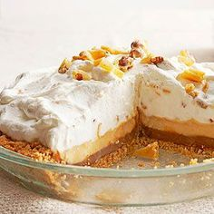 Two-Layer Chocolate Peanut Butter Cream Pie