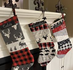 Vintage Classic Cars and Chenille Handmade Christmas Stocking with FREE US  SHIPPING